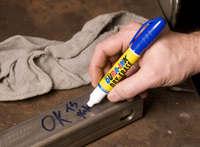 Как очистить следы маркера с линолеума?