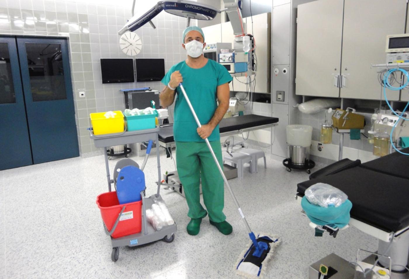 Виды и способы уборки помещений операционного блока