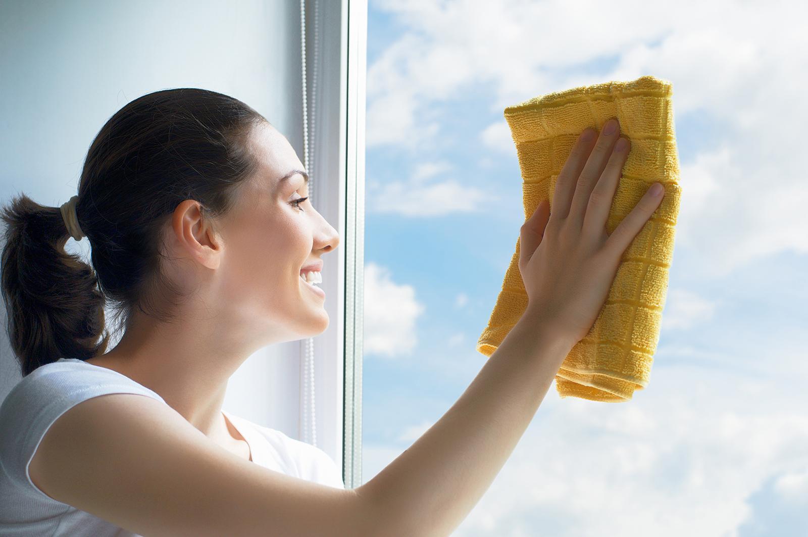 Отмыть после ремонта окна