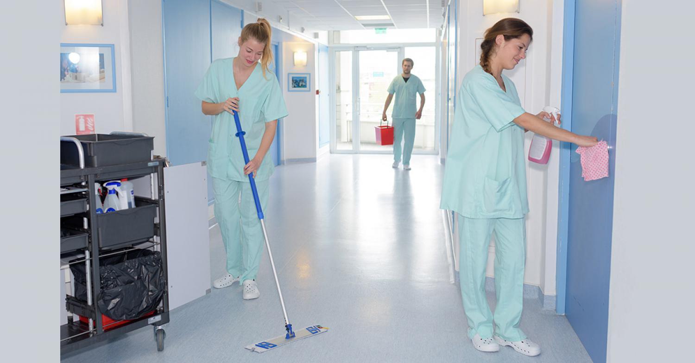 Генеральная уборки отделений в больнице