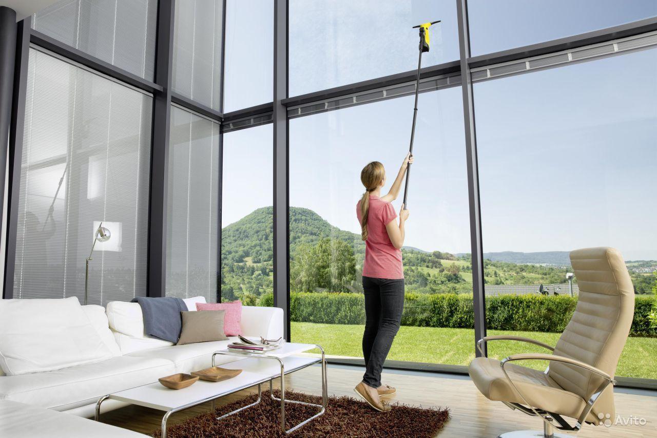 Как помыть высокие окна снаружи
