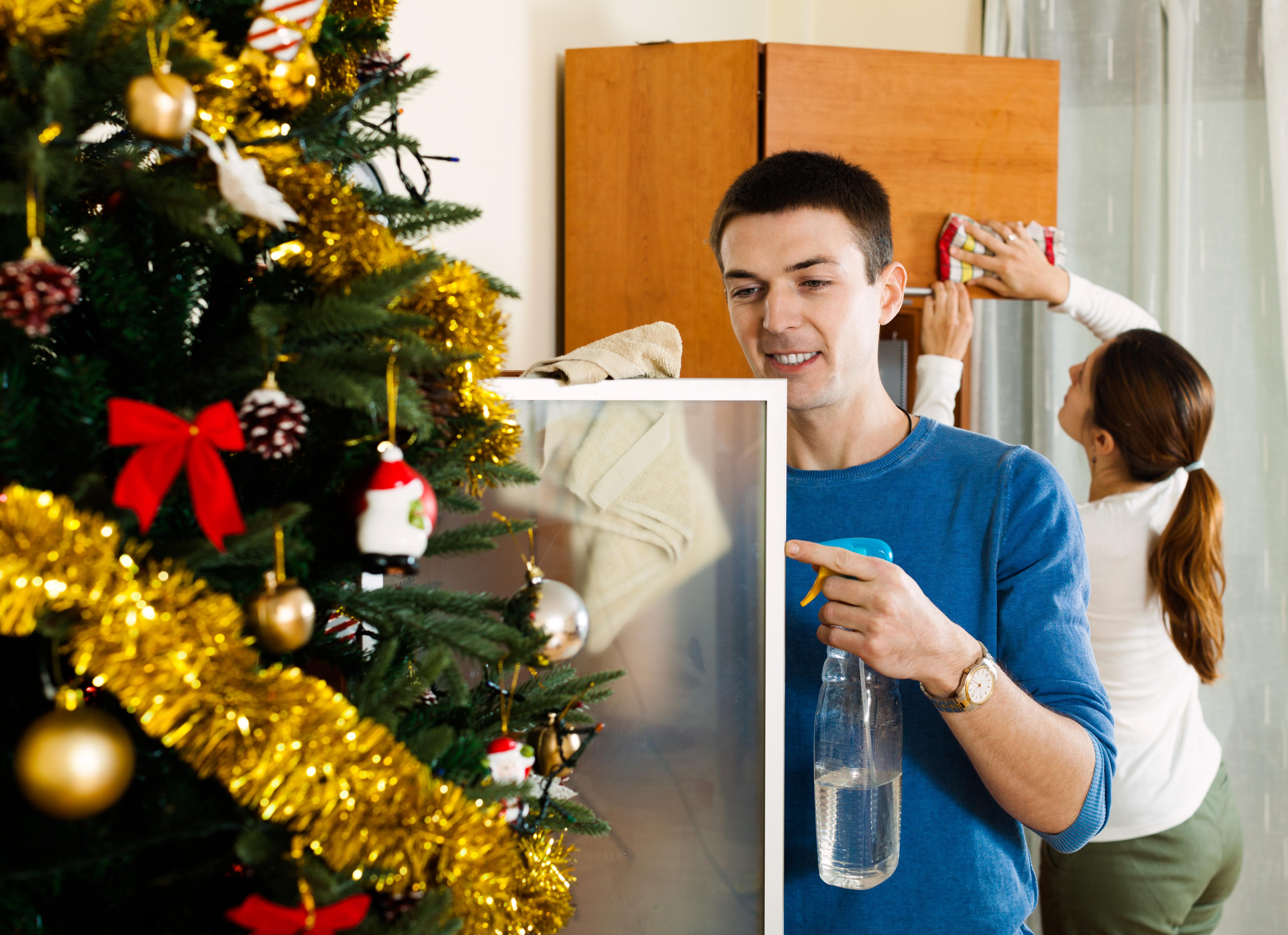 Уборка квартиры перед Новым годом