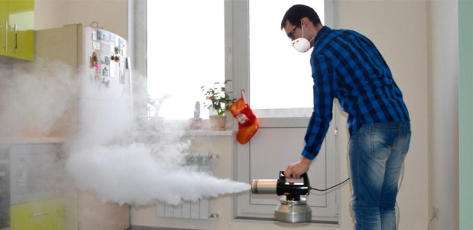 Удаления запахов в квартире сухим туманом
