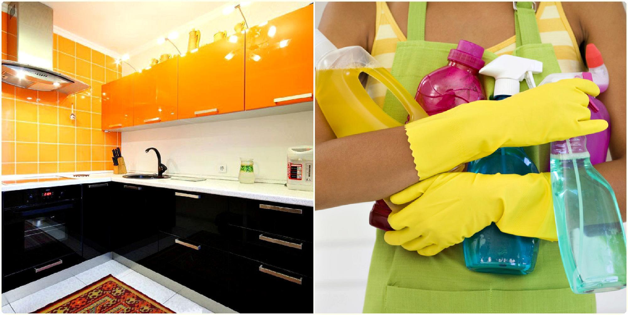 Чем помыть глянцевую кухню без разводов