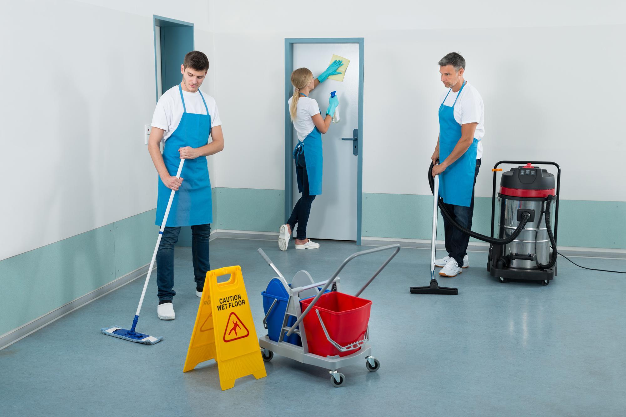 Договор на оказание услуг по уборке помещений
