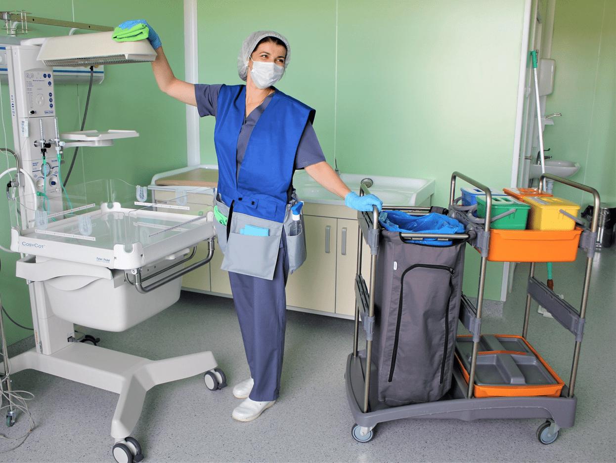 Уборка помещений медицинских учреждений