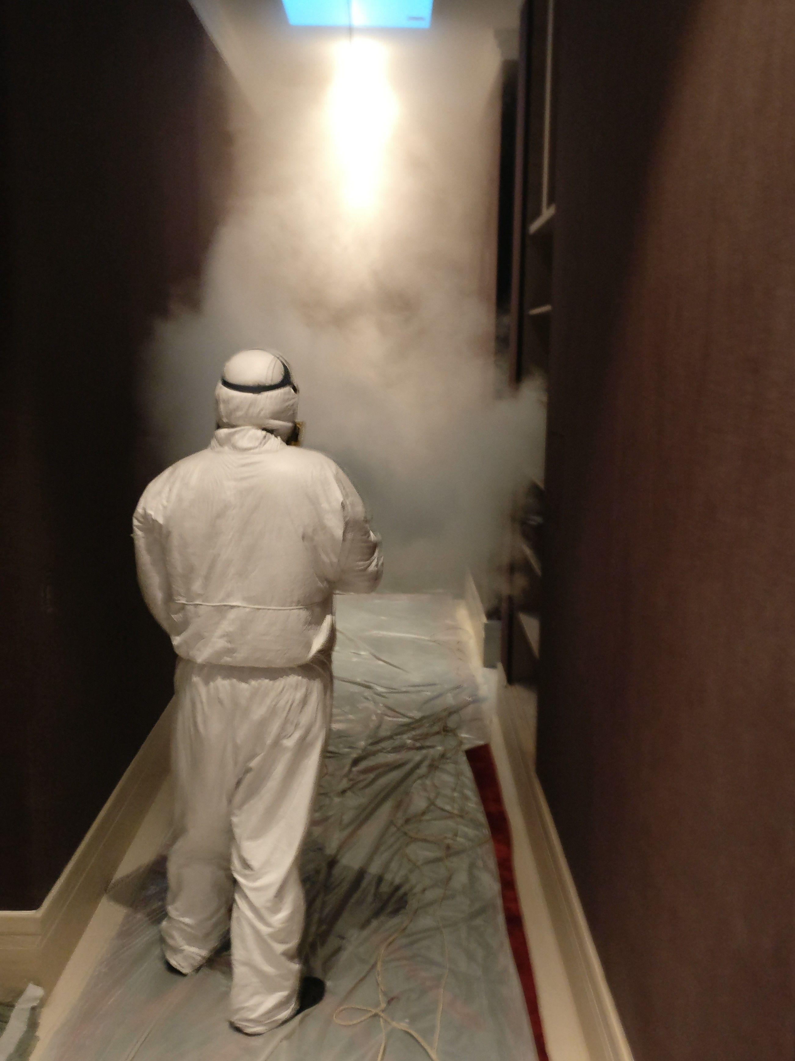 Запахи устраняет сухой туман
