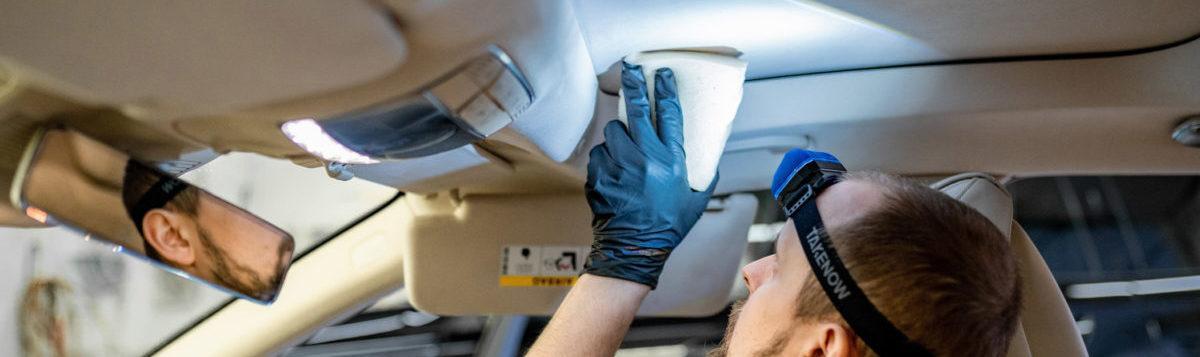 Почистить потолок в автомобиле