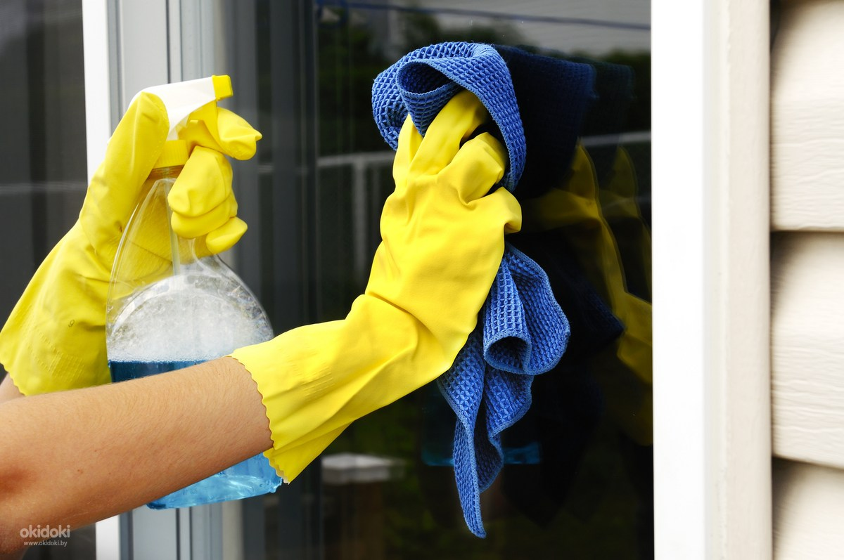 Отмыть пластиковые окна после установки