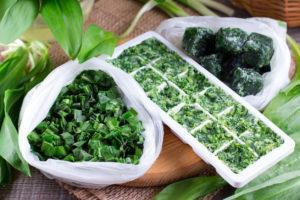 Подготовка зелени к хранению